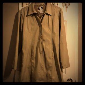 Rave rain slicker khaki windbreaker jacket